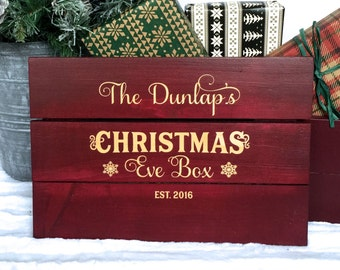 Christmas Eve Crate, Christmas Eve Box, Christmas Gift for Kids, Christmas Eve, Christmas Eve Bag, Baby First Christmas Gift, Personalized