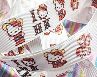 Kawaii Hello Kitty cowboy ribbon