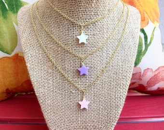 Star Charm Gold Necklace