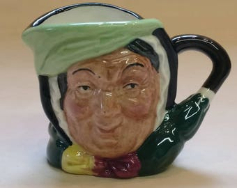 Royal Doulton Miniature Toby Jug, Collectible, Sairey Gamp from 1980's number D6045
