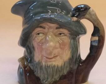 Royal Doulton Miniature Toby Jug, Collectible, Rip Van Winkle number D6517