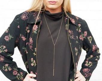 Lightweight Floral Zip Up Jacket