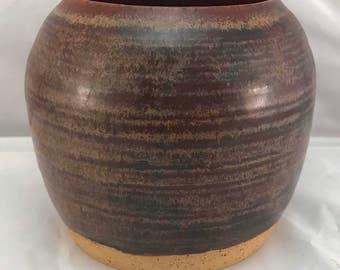 Red/Brown Vase - Stoneware
