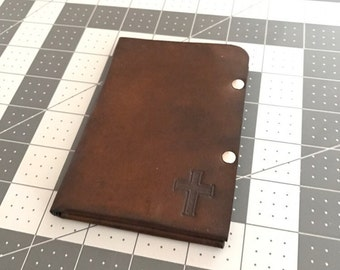 Personalized Leather Wallet, Christian Gift, Christian Wallet, Handmade Leather Wallet, Custom Leather Wallet, Men's Gift, Men's Wallet