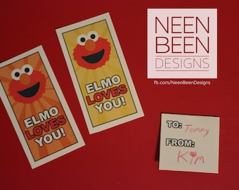 Elmo Inspired Valentines for Older Children