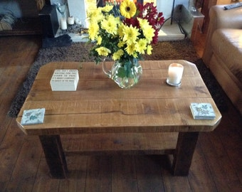 Le Paimpol solid reclaimed timber chunky coffee table