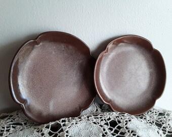 Frankoma 5E Saucer Platters Set of 3