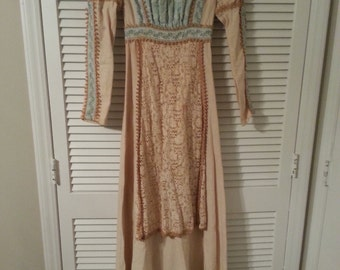 Vintage 70's Gunne Sax By Jessica Renisance Style Dress High Fashion Made in USA San Francisco California