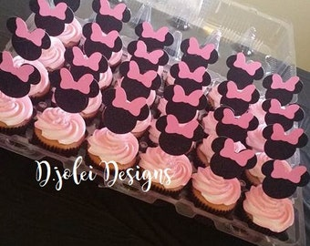 minnie mouse cupcake toppers (12)