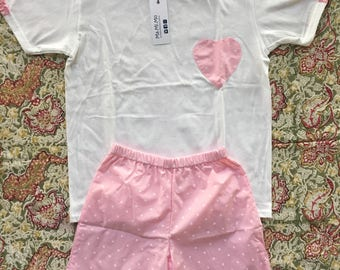 Pink Summer shorts and tshirt for girls
