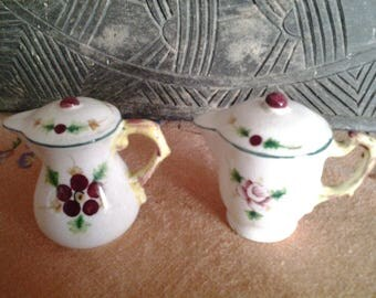 Coffee and teapot salt and pepper shakers