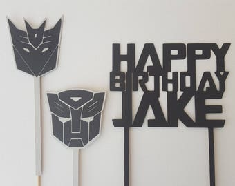 Transformers cake toppers