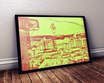 Mountain Bike Poster, Mountain Bike Print, Bike Poster, Bike Art, Framed Bike Art, Mountain Bike Art, Framed Print, Mountain Bike Decor, Art