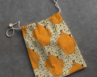 Small Cloth Gift Bag/Pumpkin Patch