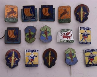 A collection of 1960s enamel Butlins badges