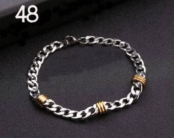 Stainless Steel Curb Bracelets