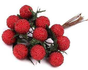 Artificial Decorative Wild Strawberries (Arrangement, Decorating, Floristry)