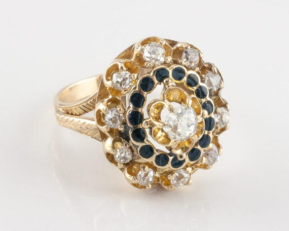 Vintage Victorian Diamond Ring, 0.60 ctw