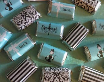 Breakfast at Tiffany's Inspired Miniature Candy Bar Wrappers