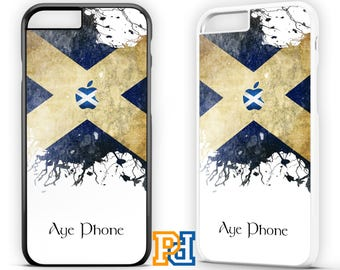 AYE IPHONE SCOTTISH Scotland Saltire Flag Funny Case For iPhone 7 6s 6 5  se 5c Samsung S6 S7 S8 Plus Edge Hard Case Cover