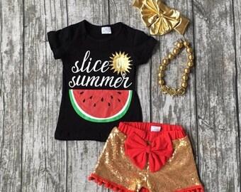 Slice of summer short set