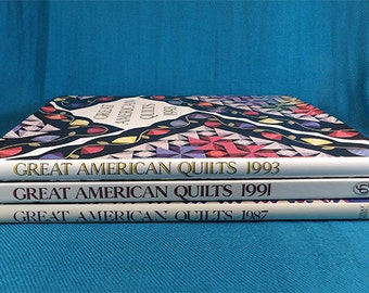 Great American Quilt Hardback Books Set of Three Quilts and Quilt Patterns