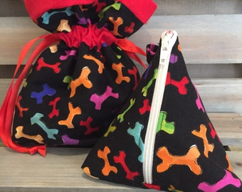Doggie treat and poop bag pouch