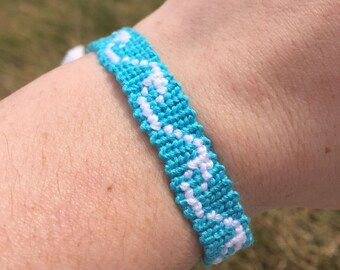 Ocean Waves Adjustable String Friendship Bracelet