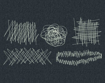 Embroidery Darning Stitches for jeans and other clothing - Machine embroidery design - 5 types for instant download