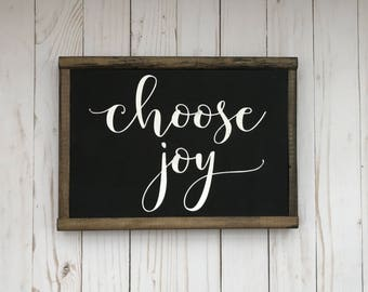 "9""x12"" Choose Joy Sign  farmhouse, modern farmhouse, rustic, wood sign, vintage"