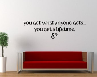 "Death ""Lifetime"" Quote Vinyl Wall Decal 