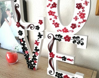 Quilling Wood Love
