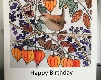 Wren Greetings Card