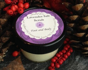 Lavender Salt Scrub, Foot and Body - Maddy Grace SkinCare