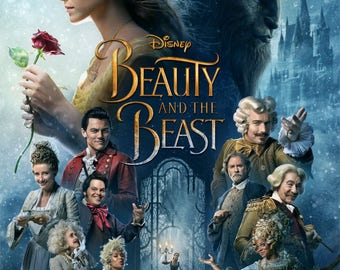 Beauty And The Beast 2017 Movie Poster Print A5 A4 A3 A2 A1