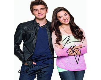 Jack Griffo & Kira Kosarin pre signed photo print poster - 12x8 inches (30cm x 20cm) - Superb quality