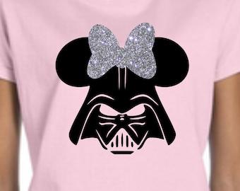 Womens Darth Vader Shirt, Darth Vader Minnie shirt, Disney Star Wars Shirt, Custom Disney Shirt