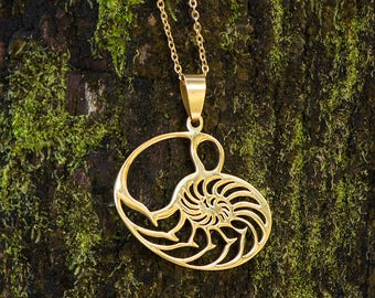 Sacred Geometry Magic - Nautilus Necklace