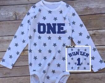 Star Baby Onesie First Birthday