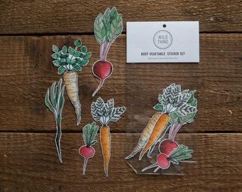 Root vegetable Sticker Aufkleber Set