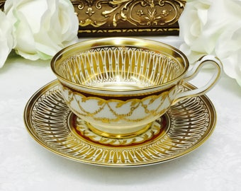 Royal Chelsea Catherdral teacup and saucer.