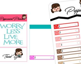 Car Note Due Planner Stickers, Size 1.5 x .25, {#163}