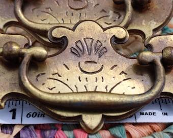 Vintage Brass Drawer Pulls/Handles/ Ornate/Hardware