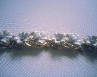 Vintage Trifari white lily bracelet