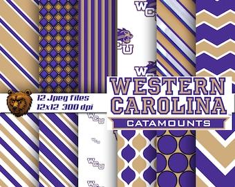 Western Carolina digital paper, Western Carolina, background, Western Carolina scrapbook paper, WCU