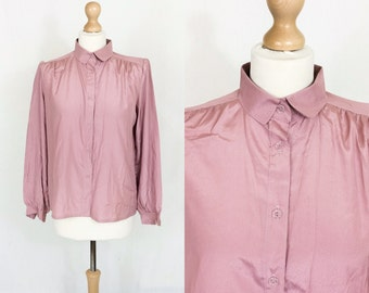 CLEARANCE: Vintage 1970s salmon pink shirt/blouse