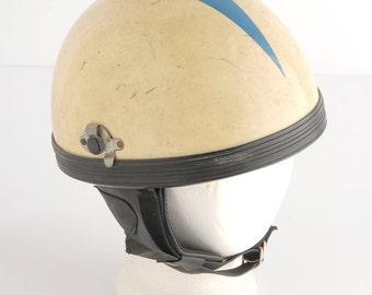 Vintage 60s Helmet - Vintage Motorcycle Helmet - 60s Motorcycle Helmet - Vintage Scooter Helmet - Japanese Motorcycle Helmet. Size Large.