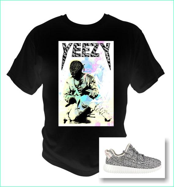 Air Yeezy Turtle Dove Diamond Mask Graphic black T-Shirt Kanye Yeezus