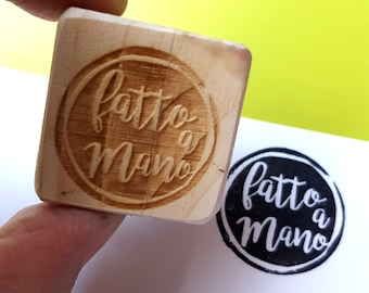 Fatto a Mano stamp: handmade stamp, Label stamp, stamp package, tags stamps, tag, stamp