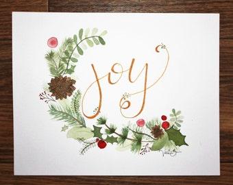 Joy. 8 in x 10 in Original Watercolor.